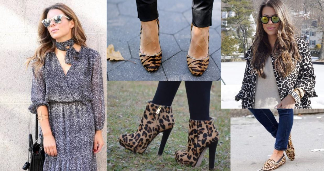 Blogger Arianna Blake of Blake and Gold in Animal Print for the Holidays